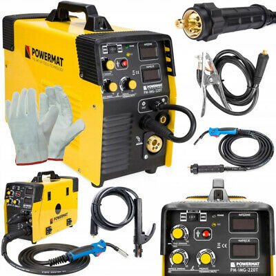 5 In 1 Mig / Mag / Tig / Fcaw / Mma Welder Inverter 220A Weld Machine / Powermat