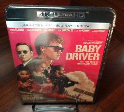 Baby Driver (4K Ultra HD+Blu-ray+Digital)Brand NEW-Free Shipping with Tracking