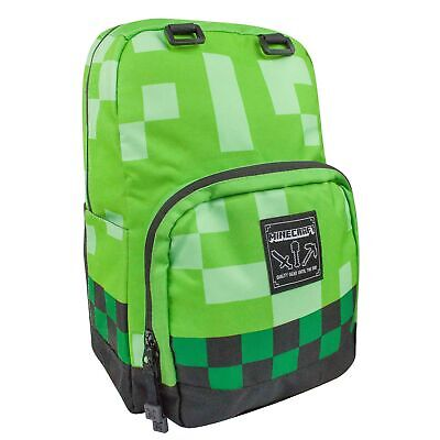 PG134 Kids Large Creeper Backpack Minecraft Official Childrens