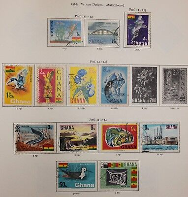 GHANA 1967 Pictorial Definitives part set to 1nc (13) SG 400-472  fine used