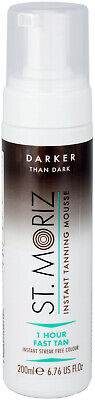 St Moriz Self Tanning Mousse Fake Tan Darker than dark 200ml - 1 Hour Fast Tan
