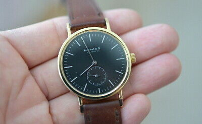 NOMOS Glashutte Tangent Gold 18k Yellow Gold Hand winding Rare Watch From Japan