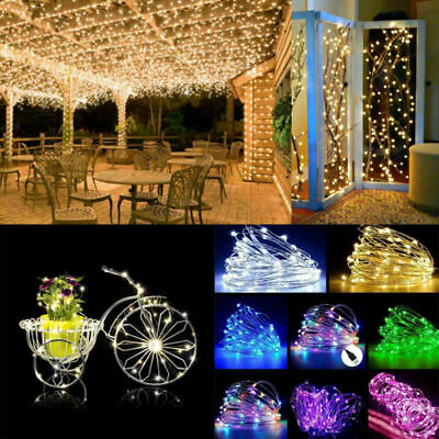 10M 100LED Copper Wire USB Fairy Light String Strip Lamp Xmas Party Waterproof