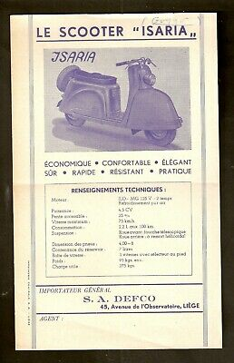 Feuillet Publicitaire - Scooter ISARIA