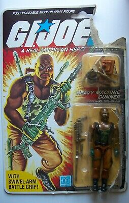 1984 Roadblock V1 Vintage 3 3/4 GI Joe ARAH Action Figure Heavy Machine Gunner