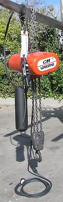 CM Lodestar 3 Ton Electric Chain Hoist Model RRT-2 460V 3 Phase