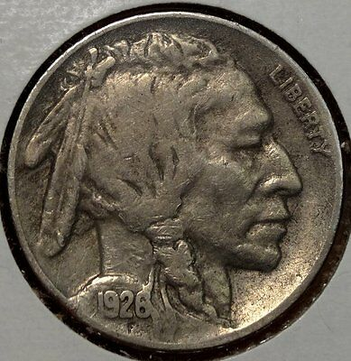 1926-S Buffalo Nickel, Very Fine, Semi Key Date, Nice & Original  0321-15
