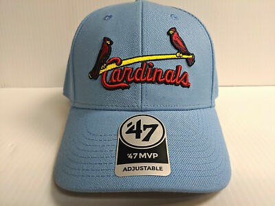 4cde600d2e5ca St. Louis Cardinals 47 Brand Cap Hook   Loop Adjustable Blue MVP Hat  Throwback