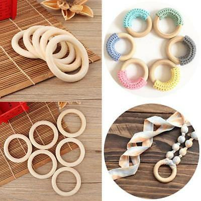 70mm Raw Natural Rings Round Pram Craft Baby Ring Wooden Teether ON SALE CB