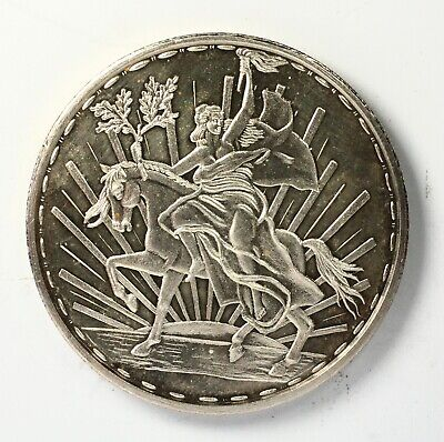 Mexico Dos Onzas 2 oz 999 Silver Proof Little Horse Caballito Silver Round Coin