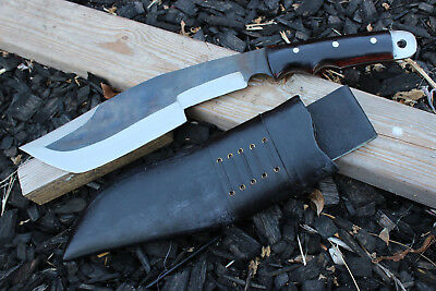 """American Size Hand Forged Knife - 11.5"""" Tracker Rust Free Blade Machete Knives"""
