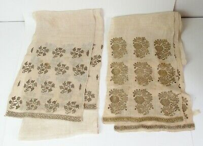 Two antique Ottoman embroidery textiles scarves - Turkish / Persian #5