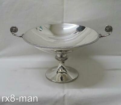 STUNNING 1936 SOLID SILVER PEDESTAL LARGE FRUIT BOWL COMPORT BY JAMES DIXON 619g