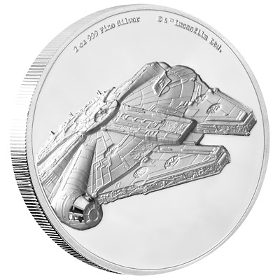 Niue - 5 Dollar 2019 - Star Wars™ Millennium Falke™ - 2 Oz Silber PP High Relief