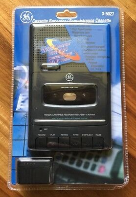 GE General Electric Cassette Recorder 3-5027 Personal Portable Player New Sealed