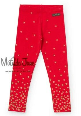 Girls Matilda Jane Make Believe Twinkle Leggings Size 4 GUC