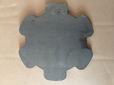 (1)pc. 3/8 Inch Thick X 10 1/4 Inch Diameter Petal-Shaped Plate A36 Grade Steel