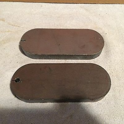 (2)pcs  5 13/16 Inch X 2 5/16 Inch X 5/8 Thick Oblong Plates A36 Grade Steel