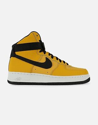2018 NIKE AIR Force 1 High '07 Leather SZ 9.5 Yellow Ochre