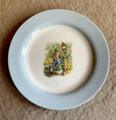 """Pottery Barn Kids BEATRIX POTTER PETER RABBIT Plate 9"""" Easter Approaches!"""