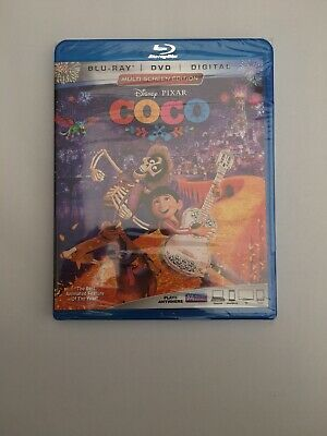 Coco (Blu-ray/DVD, 2018) New Sealed