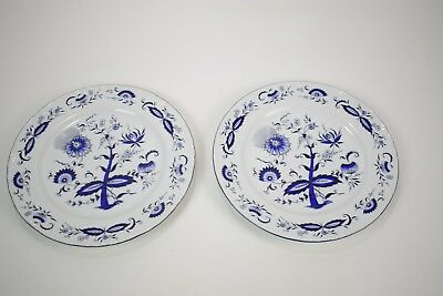 "House of Prill Porcelain - blue onion pattern - lot of 2 10 1/4"" dinner plates"