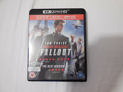 Mission Impossible Fallout 4k Ultra HD + Blu ray + extras disc
