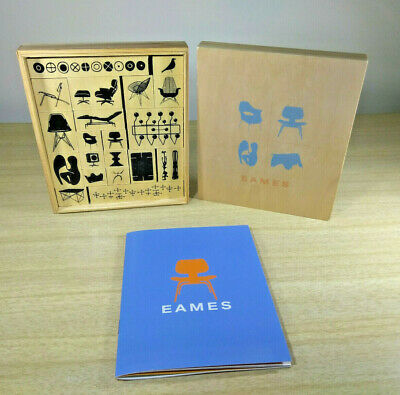 Fantastic Mid Century Modern Eames Designs Rubber 20pc Stamp Kit • NEW Boxed Set