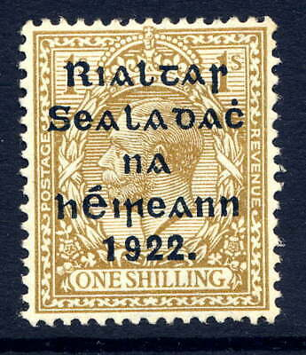 Ireland 1922 Thom Wide Setting 1/- Olive-Bistre Fresh Mounted Mint. Gibbons 51.