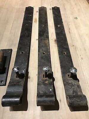 """Heavy Duty Steel Hook & Band Hinges X3 And Fixings, 2ft X 2"""" X 1/4"""" Thick ."""