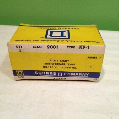 New Square D 9001 Kp-1 Series F Pilot Light Clear Free Shipping