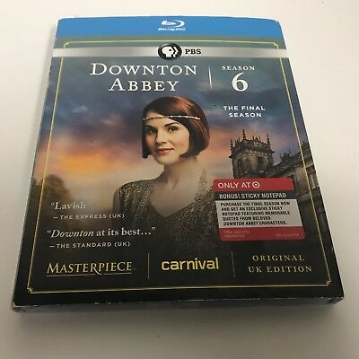 Downtown Abbey Season 6 The Final Season Bluray Disc  New & Sealed W/ Slipcover