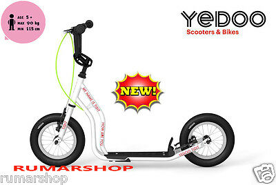 nieuw TOP BRAND YEDOO PUSH KICK CITY ROLLER SCOOTER STEP TIDIT white