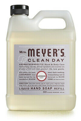 Mrs. Meyer'S Clean Day Liquid Hand & Body Soap Refill Lavender 33 Fl. Oz./948 ml