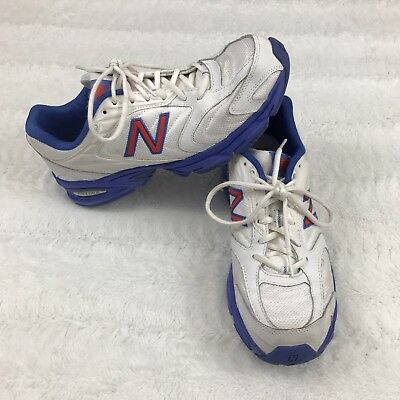 0c5f976c0b334 New Balance 80 Womens Running Shoes Size 11 White Blue Athletic Sneakers