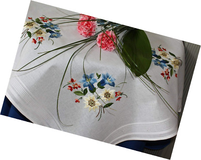 Kamaca-Shop Embroidery Kit in 'Alpine Flowers' Design with Gentian, Edelweiss an