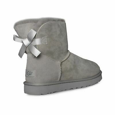 aa3b807836c UGG MINI BAILEY Bow Ii Seal Suede Sheepskin Ankle Women's Boots Size ...