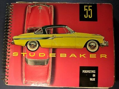 1955 Studebaker Color Upholstery Dealer Album Commander President Champion Orig