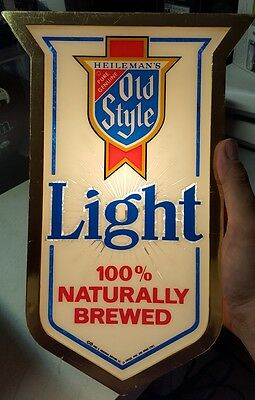 Vintage Rare 1982 Heileman's Style Beer Light Sign Good Condition -Free Ship-