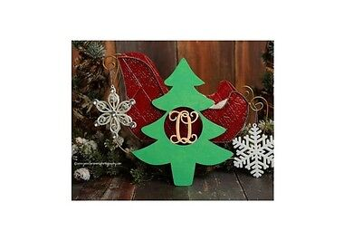 "24"" Wooden Christmas tree Letter Unfinished MDF Room Decor Custom not painted"