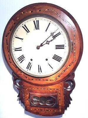 Beautiful Mahogany Drop Dial American Clock