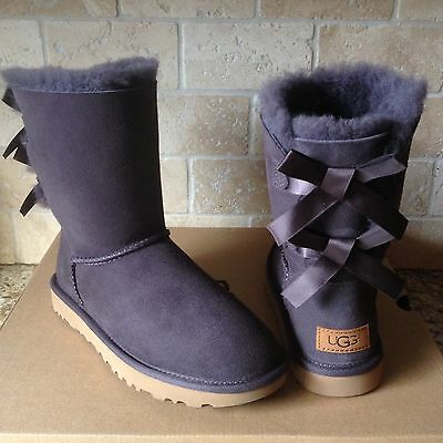 d6752176490 UGG SHORT BAILEY Bow Ii Grey Gray Water-Resistant Suede Boots Size ...