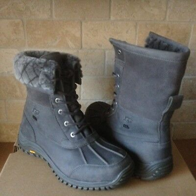 a2f07473d12 UGG ADIRONDACK II Luxe Quilt Grey Gray Waterproof Snow Boots Size US 9.5  Womens