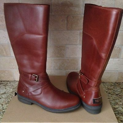 b1255ab4b06 UGG VINSON STOUT Leather Tall Riding Boot Rear Zipper Boots Womens ...