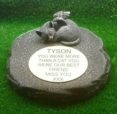 cat Large Pet Memorial/headstone/stone/grave marker/memorial with plaque ag1