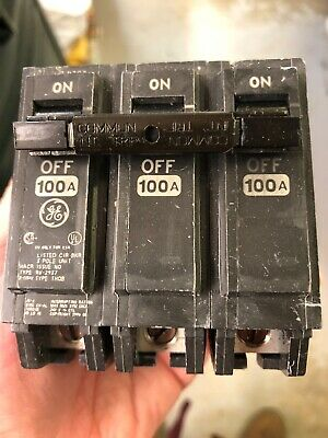 General Electric 100Amp 3 pole circuit breaker - Catalog# THQB3100 - used