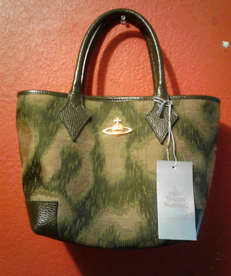Vivienne Westwood small handbag green leopard new 100% authentic made in  Italy 7483a6f7af7e0