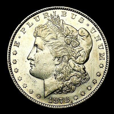 1878 S ~**ABOUT UNCIRCULATED AU**~ Silver Morgan Dollar Rare US Old Coin! #J28