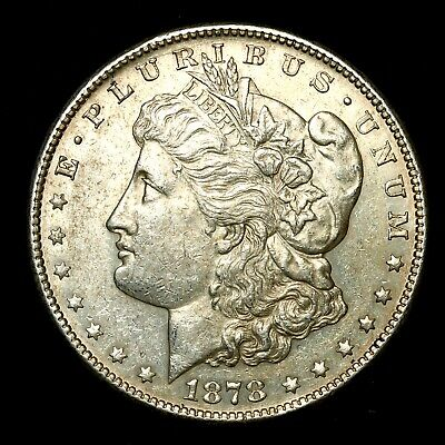 1878 S ~**ABOUT UNCIRCULATED AU**~ Silver Morgan Dollar Rare US Old Coin! #766