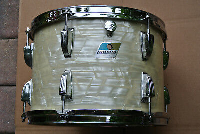 """1970's Ludwig USA 13"""" CLASSIC WHITE MARINE PEARL TOM for YOUR DRUM SET! #D93"""